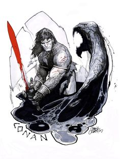 Conan by Travis Charest. Dig it.