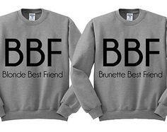 Grey Tshirt Blonde Best Friend Brunette by TeesAndTankYouShop