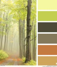 forest hues by Design Seeds Colour Pallette, Colour Schemes, Color Trends, Color Patterns, Color Combinations, Design Seeds, Color Balance, Color Swatches, Color Stories