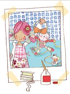 Emily Button - News|Rag Doll|Mousey|Bobble Cat Cute Illustration, Daydream, Little Girls, Girly, Clip Art, Buttons, Adventure, Dolls, Comics