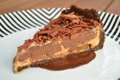Torta de doce de leite e chocolate