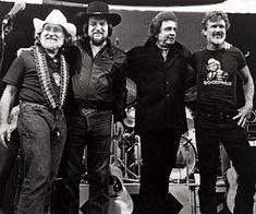 The Highwaymen: Willie Nelson, Waylon Jennings, Johnny Cash, Kris Kristofferson