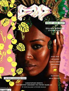 Naomi on cover of POP magazine