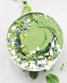 This green goodness smoothie bowl is a breakfast favorite.