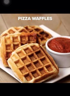 Easy Meals For Kids, Easy Food To Make, Easy Snacks, Easy Waffle Recipe, Waffle Maker Recipes, Recipe For Waffles, Healthy Waffles, Party Dip Recipes, Food Videos