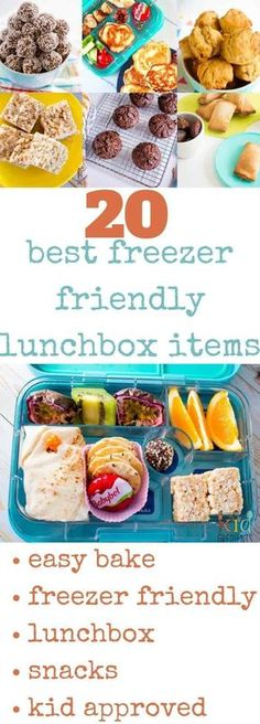 20 of the best freezer friendly lunchbox items!  Don't go back to school without these easy recipes in your freezer.  Make lunches quicker and easier with these kid approved freezer friendly recipes!