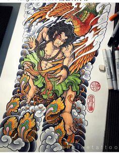 Japan Tattoo Design, Japanese Tattoo Designs, Koi, Asian Tattoos, Oriental Tattoo, Samurai Tattoo, Desenho Tattoo, Back Tattoo, Tattoo Sketches
