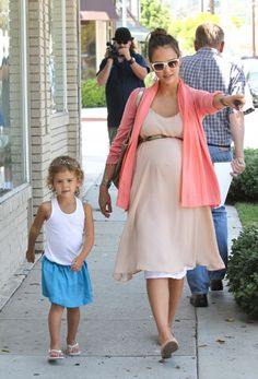 Jessica Alba and pretty little Honor.  Jessica is the cutest pregnant girl!  Man, I hate her.  ;)