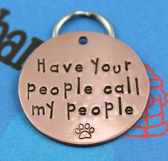 Cutest pet tag EVER! Available in different sizes and metals, phone number stamped on back via Critter Bling #etsy