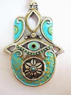 HAMSA Craft Judaica  Swarovski crystal Decor by IrinaSmilansky