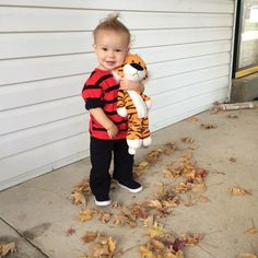 Calvin and Hobbes -- definitely a shoo-in for JP's future Halloween costume