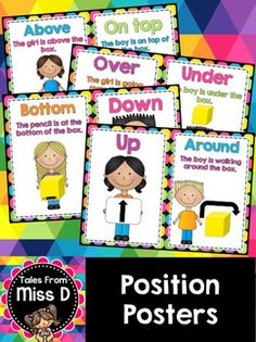 Position PostersThis pack of Position Posters displays definitions and ...