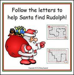 "FREE LANGUAGE ARTS LESSON – ""Christmas Letter Maze freebie – Help Santa Find Rudolph!"" - Go to The Best of Teacher Entrepreneurs for this and hundreds of free lessons. Pre-Kindergarten - Kindergarten #FreeLesson #LanguageArts  #Christmas  http://thebestofteacherentrepreneursmarketingcooperative.net/free-language-arts-lesson-christmas-letter-maze-freebie-help-santa-find-rudolph/"