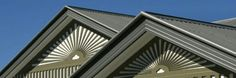 Zoomed photo of a metal roof.