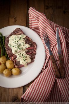 Steak and Blue Cheese Sauce