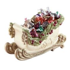 Christmas:  Grasslands Road Good Tidings Sleigh Candy Dish from Amazon