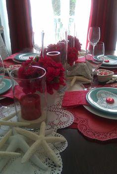 lace + starfish + aqua + pink  #Valentines