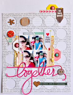 #papercraft #scrapbook #layout  Sasha Farina for Chic Tags - April 2014 Sketch Challenge