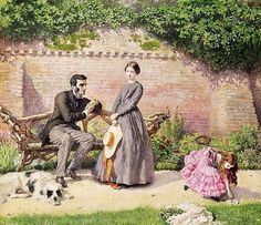 Frederick Walker (English artist, 1840-1875) Rochester and Jane Eyre