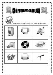 Computer Use Worksheets | English teaching worksheets: Computers