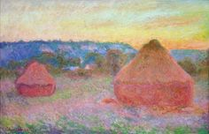 Grainstacks at the End of the Day, Autumn, 1891 Claude Monet