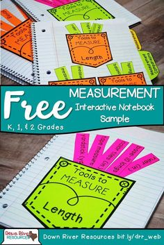 FREE! Kindergarten, First Grade, Second Grade TEKS Interactive Notebook Measurement Sample contains three interactive, hands-on folds and flaps to engage your mathematicians. They will learn measurement tools for length, weight, and capacity. | Down River Resources | Kindergarten Math TEKS | First Grade Math TEKS | Second Grade Math TEKS | Measurement