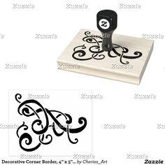 """Decorative Corner Border, 4"""" x 5"""" Rubber Stamp #stamping #stamps #artsupplies #craftsupplies #embossing #stampembossing #craftideas"""