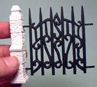 Iron fence and several other good tutorials for doll houses. Good inspiration for making similar items for putz houses. Dollhouse Tutorials, Diy Dollhouse, Dollhouse Miniatures, Miniature Tutorials, Miniature Furniture, Doll Furniture, Miniature Houses, Miniature Dolls, Putz Houses