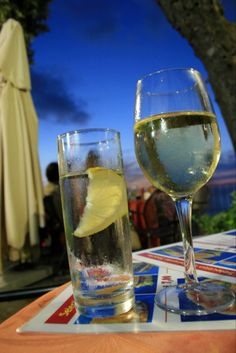 Cheers with some Italian wine