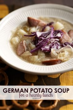 When it comes to hearty soup recipes, this one is a winner. Tangy sauerkraut and hearty mustard infuse an old-style goodness here in this German potato soup.