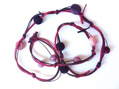 Purple anf fuchsia beaded necklace  (made to order). $25.00, via Etsy. Beaded Necklace, Necklaces, Purple, Etsy, Beaded Collar, Pearl Necklace, Chain, Beaded Necklaces, Collar Necklace