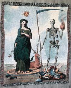 Vanitas c. Dance Of Death, Art And Illustration, Vanitas, Memento Mori, Hans Baldung Grien, Rose Croix, Alchemy Art, Esoteric Art, Danse Macabre