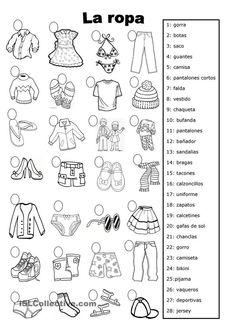 la ropa Más #learnspanish