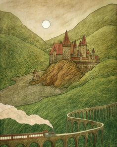Harry Potter Places, Anna, Painting, Painting Art, Paintings, Painted Canvas, Drawings