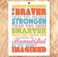 Inspirational Quote Art Print 11X14  No Q0060  by GraceHouseArt, $24.95