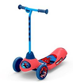 Pulse Performance Products Spider-Man Safe Start Electric Scooter, Electric Scooter for Kids Electric Scooter For Kids, Kids Scooter, Spiderman, Science Fiction Books, 3rd Wheel, Tricycle, Disney, 3d Printing, Toys