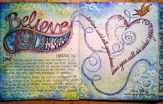 visual blessings: BELIEVE Journal Page - Step-by-Step