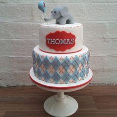 Stitched Elephant - by Sugar Bee Cakes @ CakesDecor.com - cake decorating website