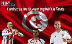 France Football a dévoilé la liste des candidats au titre du joueur maghrébin de l'année. Trois tunisiens figurent parmi les neuf nommés. Il s'agit du défenseur du FC Valence, Aymen Abdennour, du latéral gauche d'Al Ahly, Ali Maâloul et du milieu de terrain de Sunderland, Wahbi Khazri. Voici les autres candidats : Faouzi Ghoulam (Napoli/Algérie), …