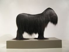 hair art, Keith W. Bentley's art is shaped by lineage as much as it is by his fervent love of textiles and hair, pungiball hair art,  animal hair art, animals fur art