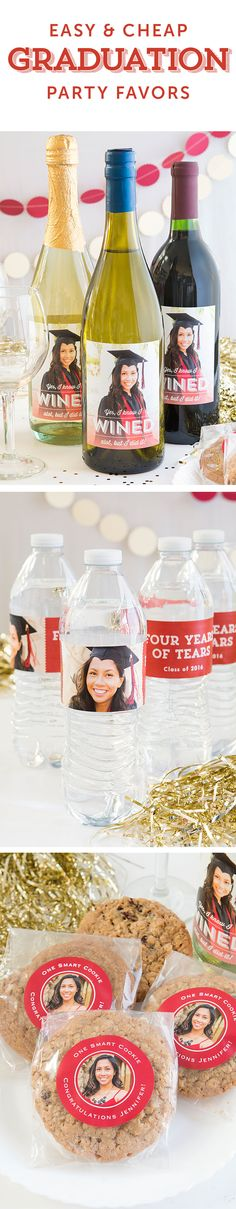 graduation, graduation party favors, graduation parties, party favors, evermine, evermine.com (Bottle Gift Party Favors)