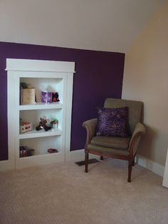 removable bookcase instead of door for attic access...for the girls room...why didn't I see this before I installed the new doors...