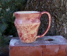 Light Maroon Large Mug by WildwoodCeramics on Etsy