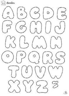letras -  alfabeto by ARTESonhos - Feltro e tecido - Sheila Sansão, via Flickr: