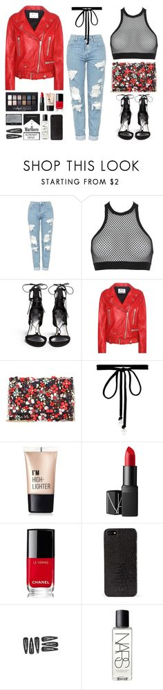 """""""no broken ♡ in the club"""" by valoverhere ❤ liked on Polyvore featuring Topshop, Dsquared2, Stuart Weitzman, Acne Studios, Oscar de la Renta, Joomi Lim, Maybelline, Charlotte Russe, NARS Cosmetics and Chanel"""
