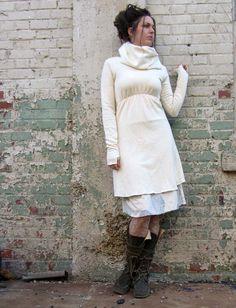 Gaia Conceptions Organic Clothing - Let It Snow Short Dress, $160.00 (http://www.gaiaconceptions.com/let-it-snow-short-dress/)