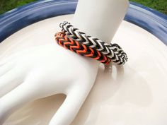 Rainbow Loom Fish Tail style Bracelet. I just learned how to do this last night. Possibly the easiest Rainbow Loom pattern -- and arguably the most polished looking, too.