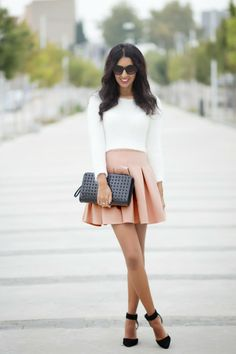 The soft pink skirt