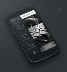 Black UI Android Homescreen by rabrot - MyColorscreen Frog Design, Ui Design, Android Navigation, App Drawer, User Interface Design, Mobile Ui, Homescreen, Design Inspiration, Digital
