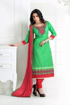 Chanderi Cotton   Unstiched   Salwar Suit